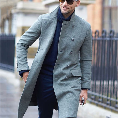 Men's fashion casual solid color coat