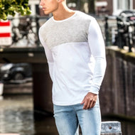 Street Round Neck Colorblock Long Sleeve T-Shirt
