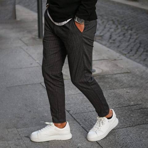 Men's Stylish Casual Striped Slim Pants