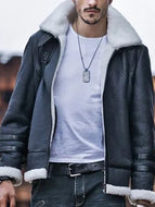 Street Fashion Warm Fleece Leather Jacket