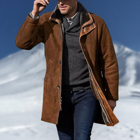 Men's classic solid color coat