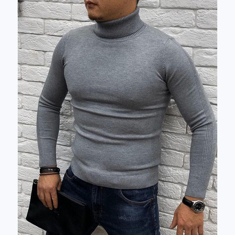 Men's Casual Turtleneck Pure Sweater