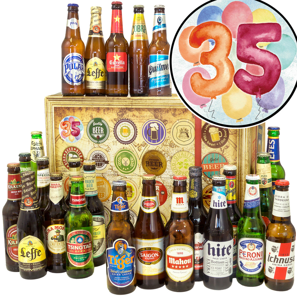 Geburtstag 35 | 24 Biersorten Bier International | Paket