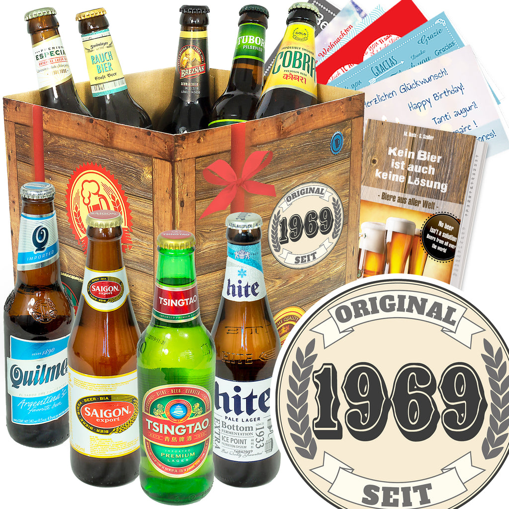 Original seit 1969 | 9 Spezialitäten Bier International | Box