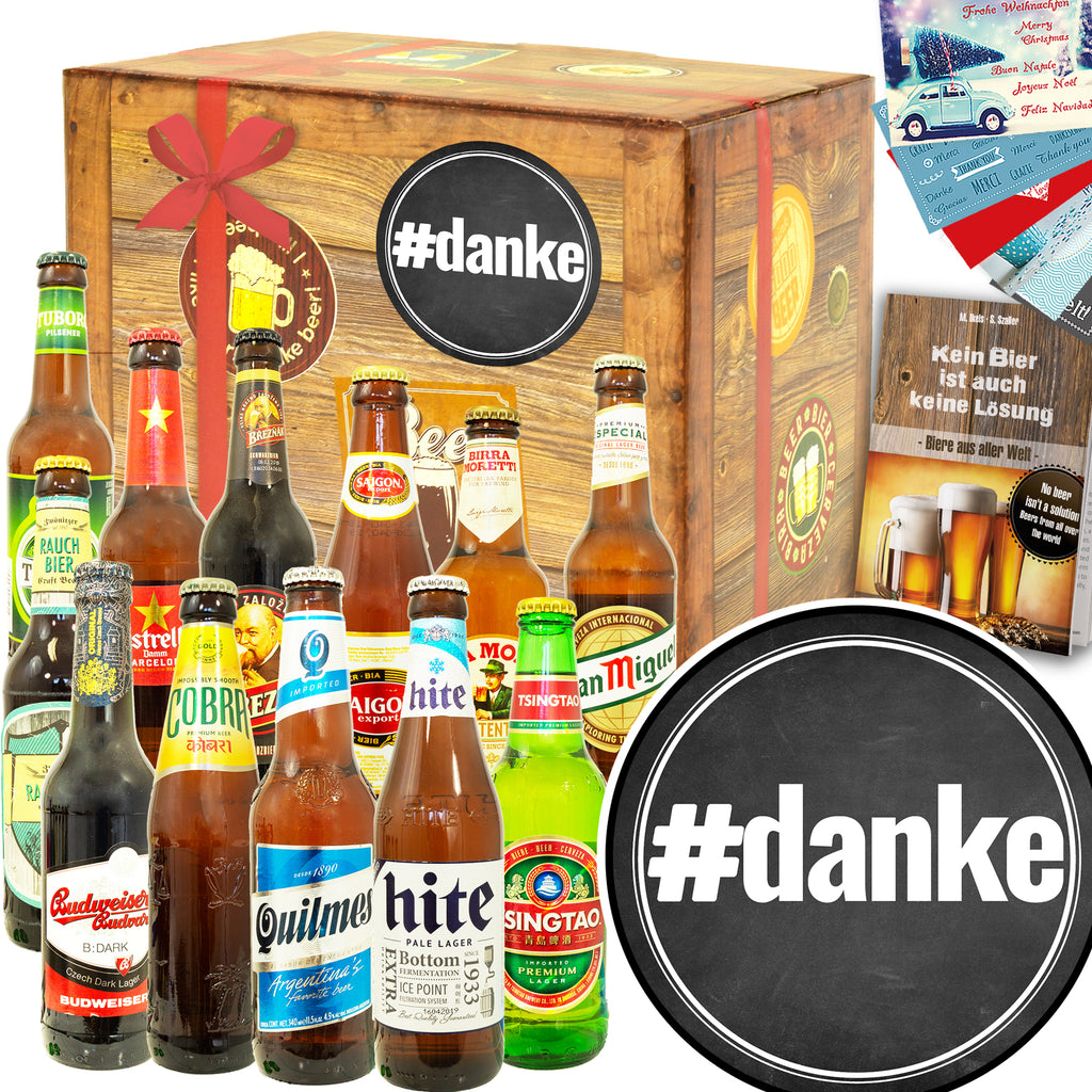 #danke | 12 Biersorten Bier International | Probierpaket
