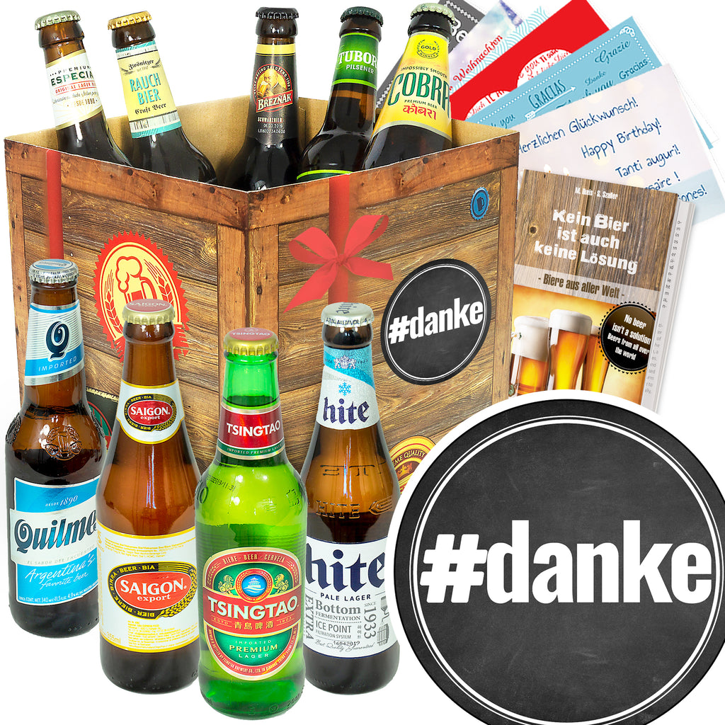 #danke | 9 Biersorten Bier International | Probierpaket