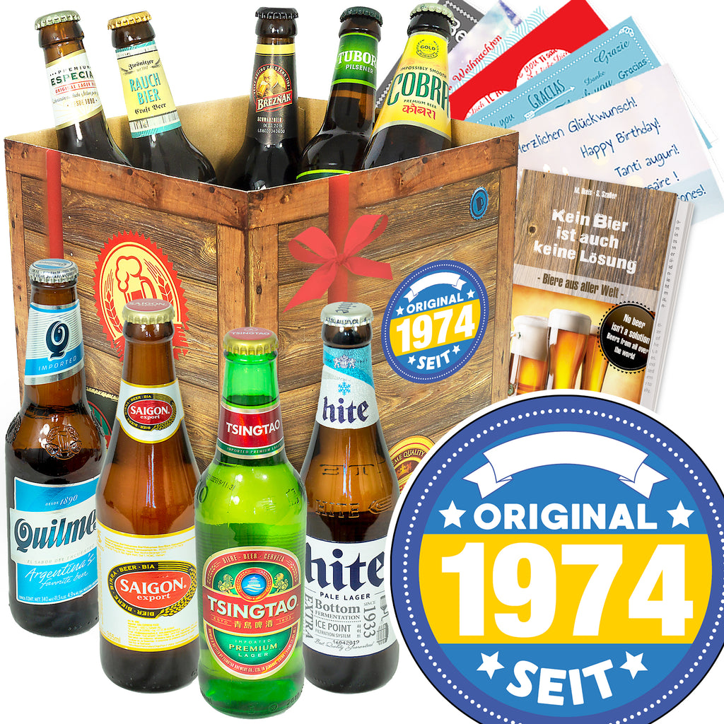 Original seit 1974 | 9x Bier International | Präsent
