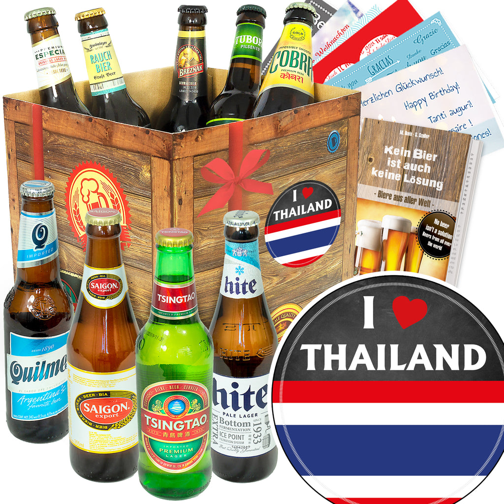 I love Thailand | 9 Spezialitäten Bier International | Paket