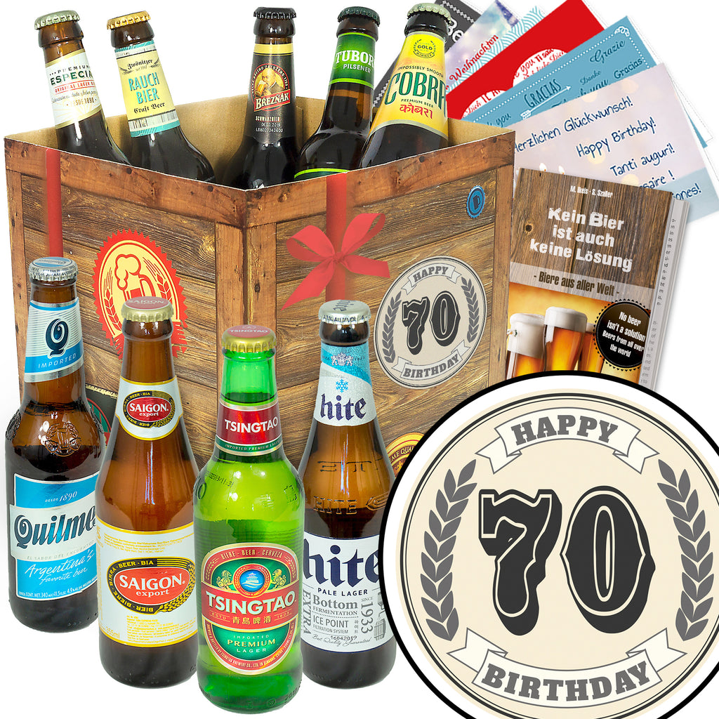 Geburtstag 70 | 9x Bier International | Biertasting