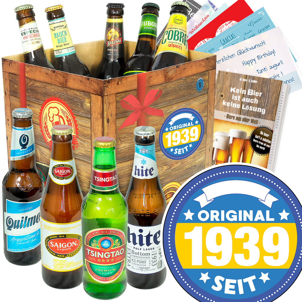 Original seit 1939 | 9 Länder Bier International | Bierset