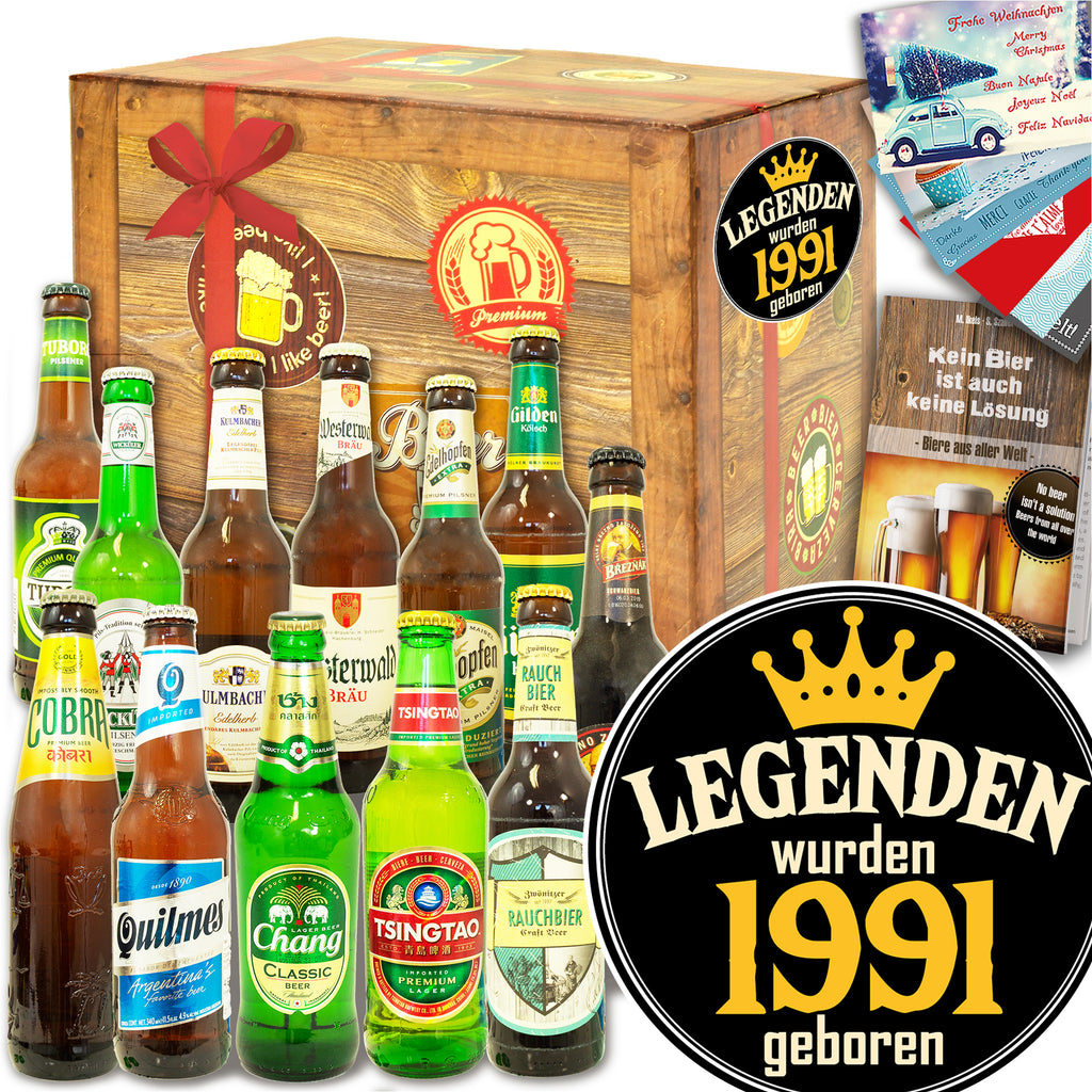 Legenden 1991 | 12x Bier International und DE | Bierset
