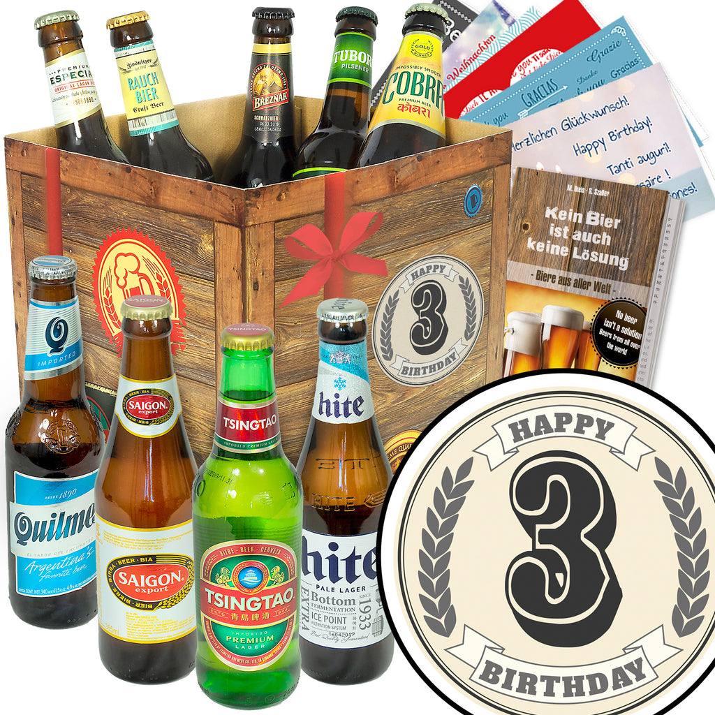 Geburtstag 3 | 9 Biersorten Bier International | Box