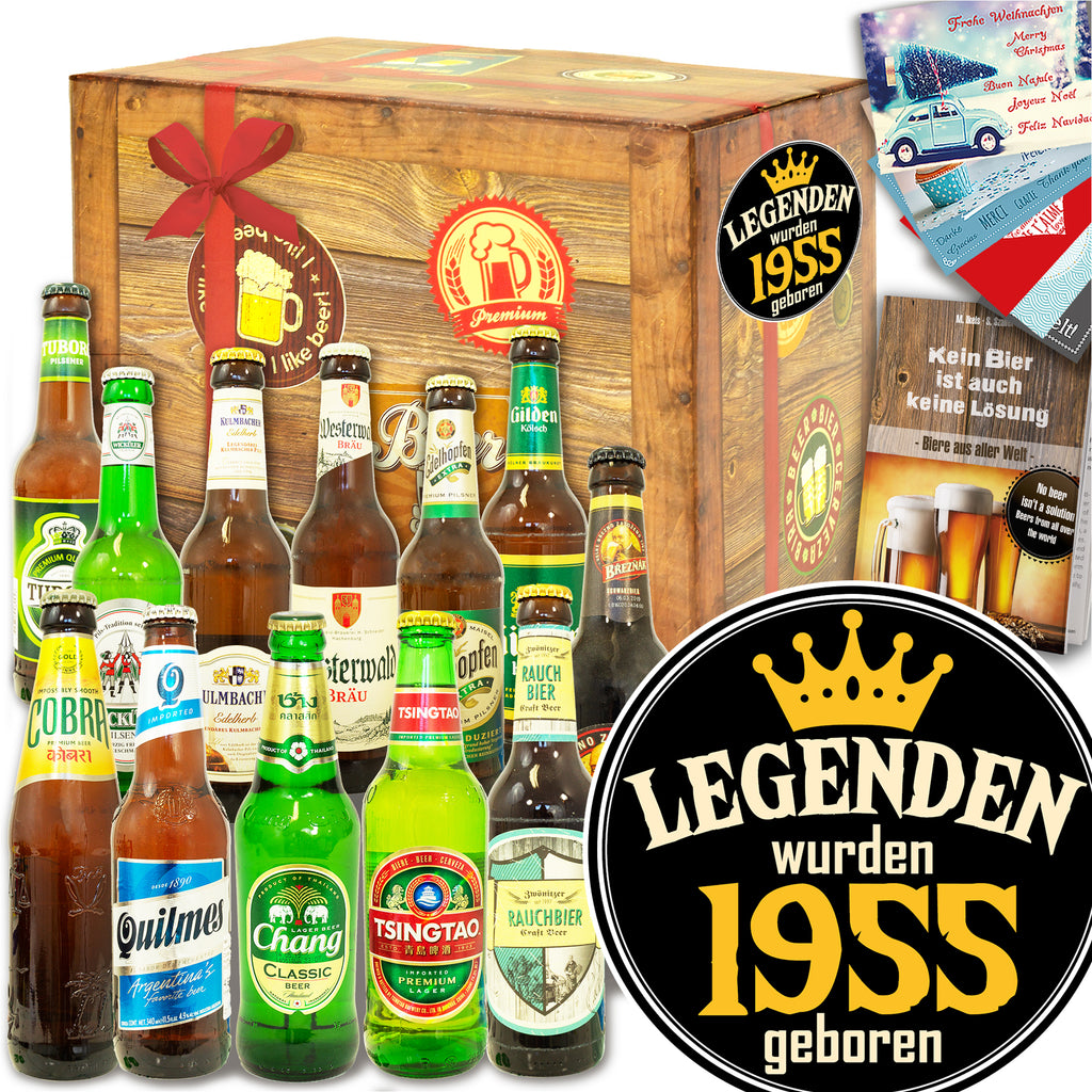 Legenden 1955 | 12 Biersorten Bier International und DE | Bierset