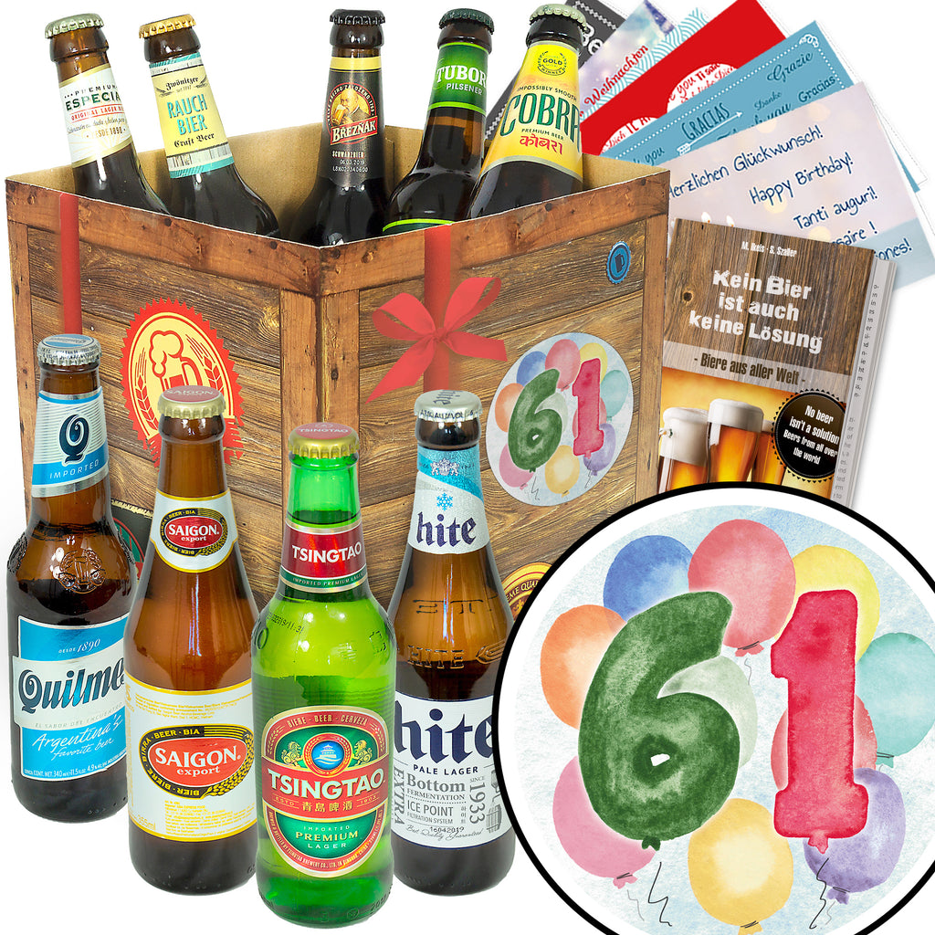 Geburtstag 61 | 9x Bier International | Probierpaket