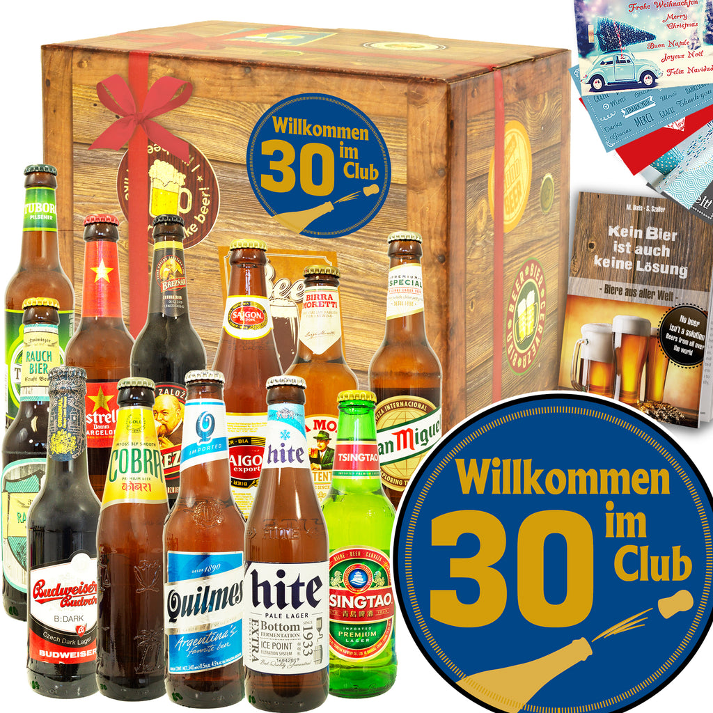 Wilkommen im Club 30 | 12 Flaschen Bier International | Bierpaket