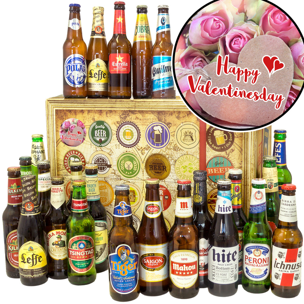 Happy Valentinesday | 24x Bier International | Biergeschenk
