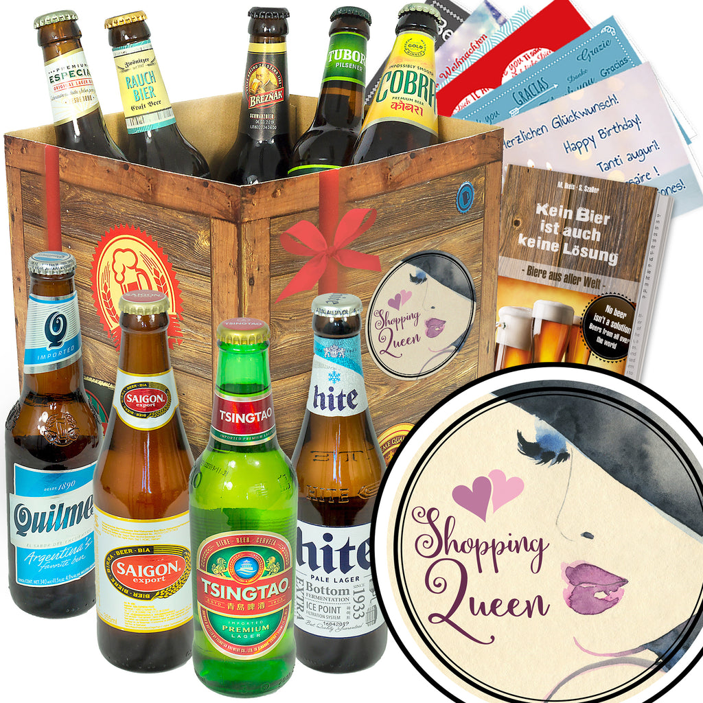 Shopping Queen | 9x Bier International | Bierbox