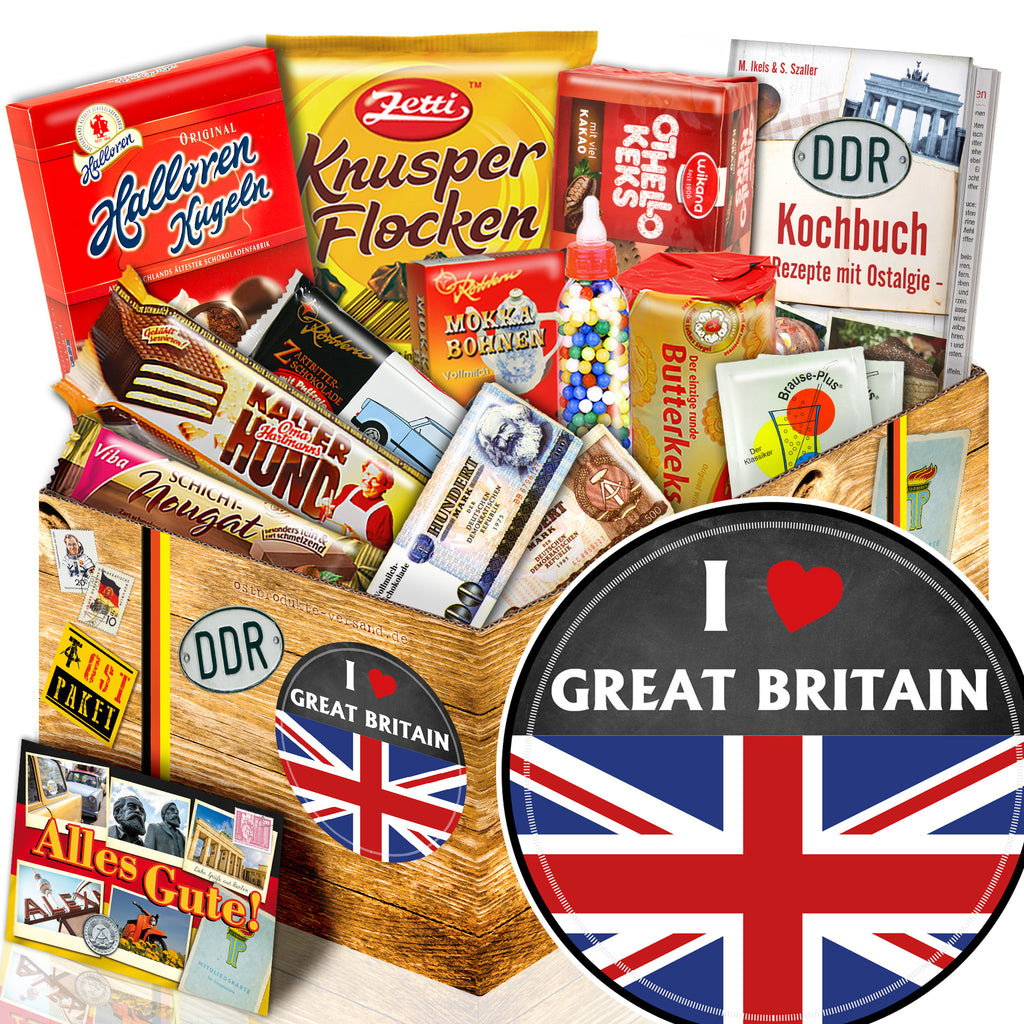 I love Great Britain - Süßigkeiten Set DDR L