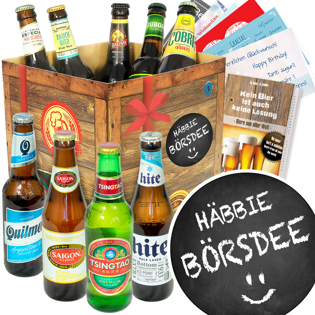 Häbbie Börsdee | 9 Flaschen Bier International | Biertasting
