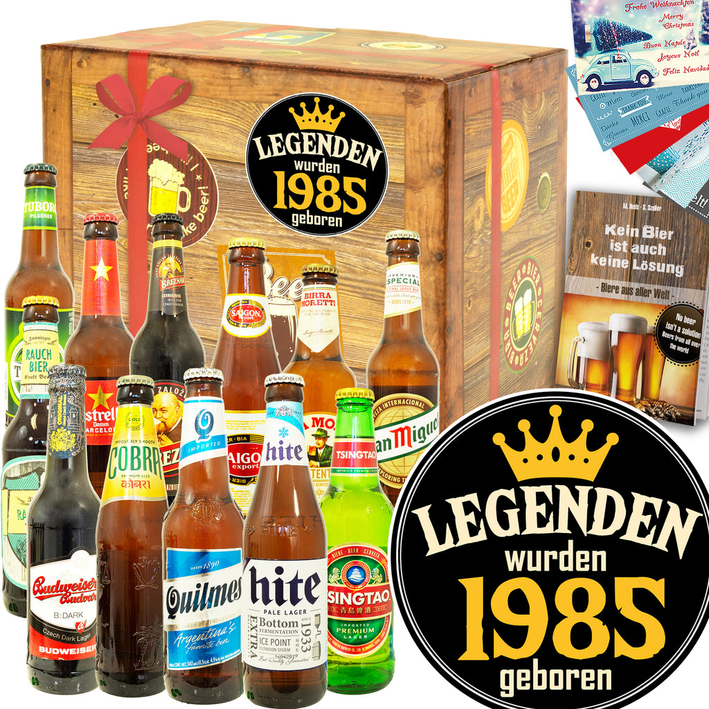 Legenden 1985 | 12 Biersorten Bier International | Biertasting