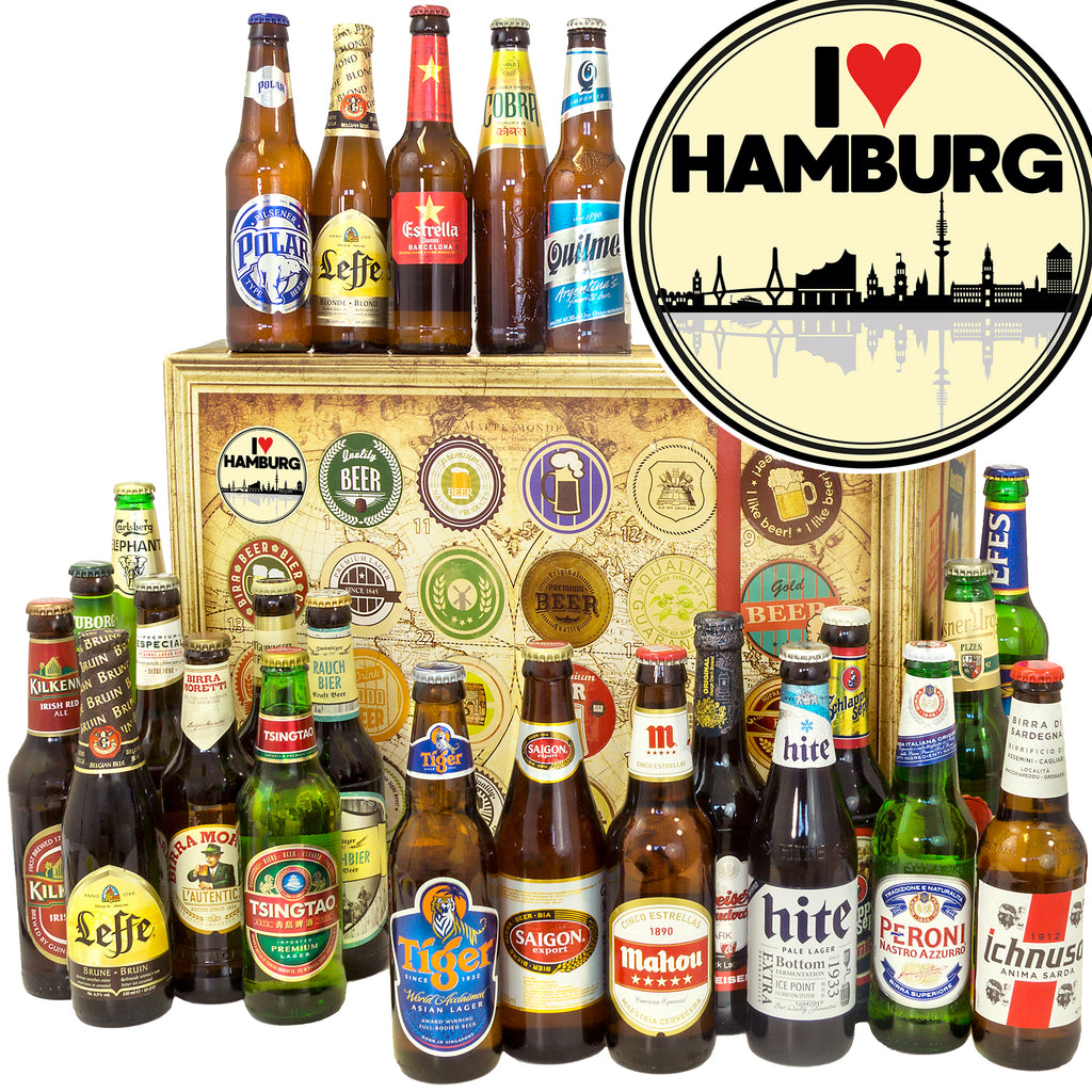 I love Hamburg | 24 Länder Bier International | Biergeschenk