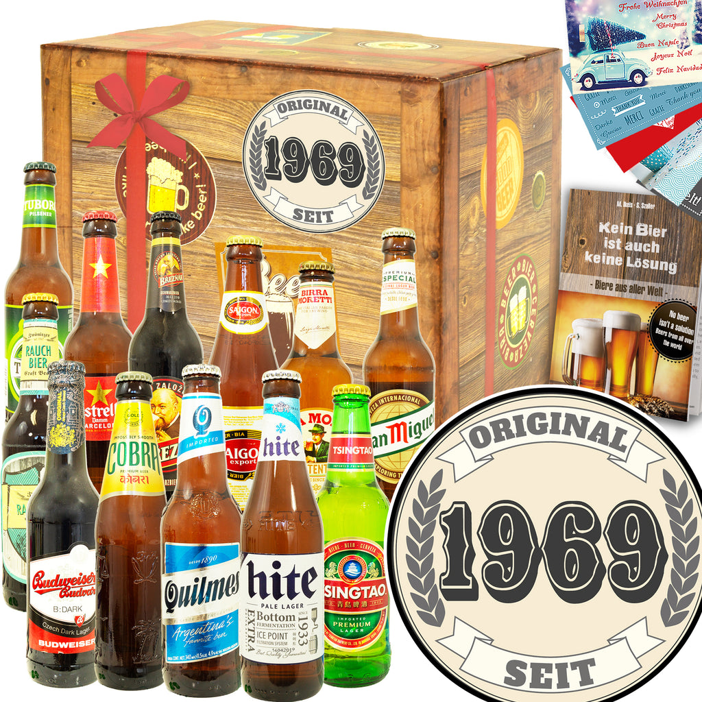 Original seit 1969 | 12 Spezialitäten Bier International | Box