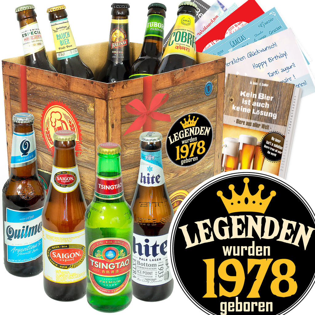 Legenden 1978 | 9x Bier International | Geschenkpaket