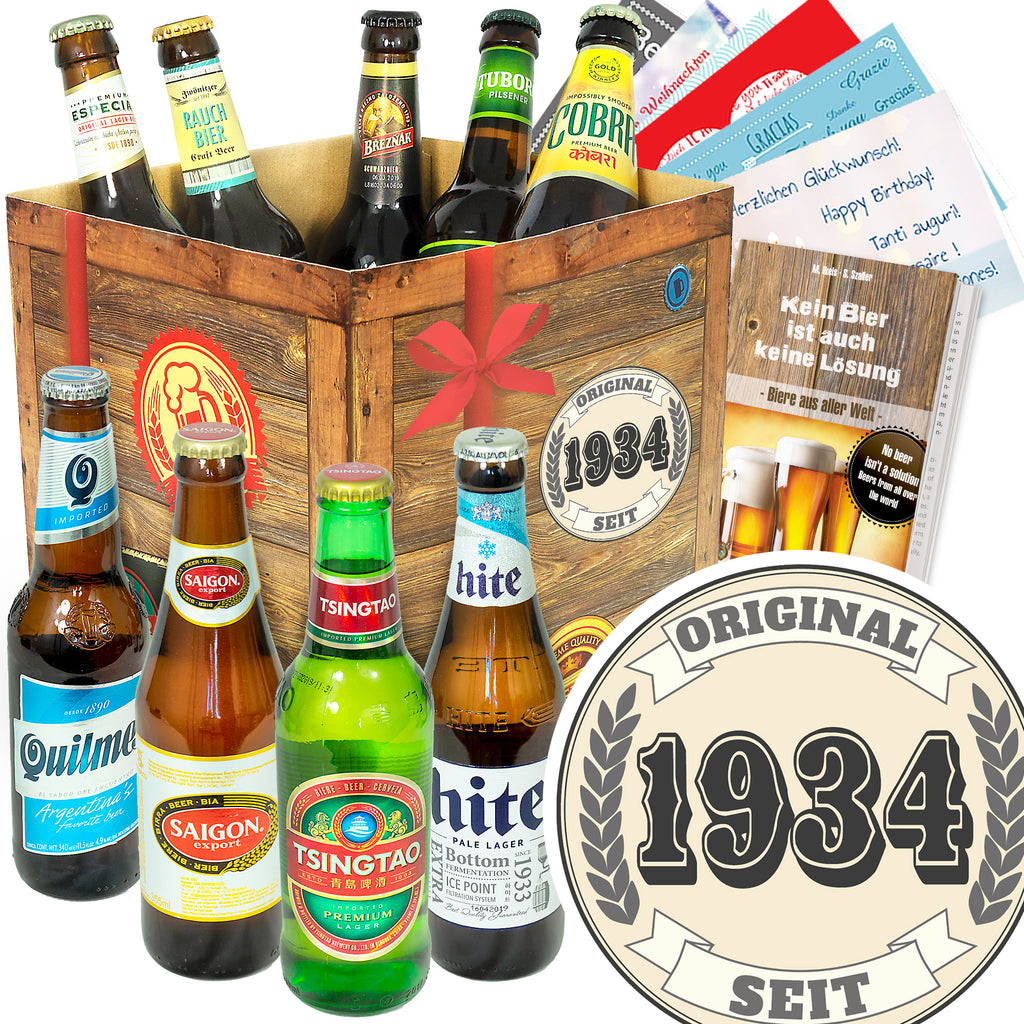 Original seit 1934 | 9 Biersorten Bier International | Geschenk Box
