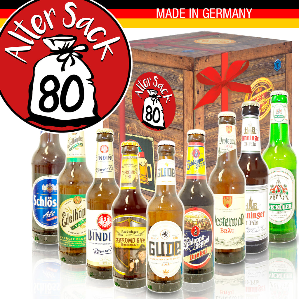 Alter Sack 80 | 9x Deutsche Biere | Box