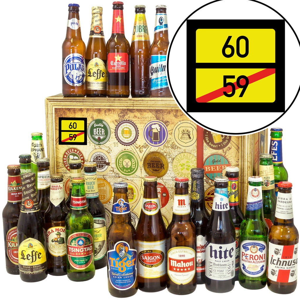 Ortsschild 60 | 24x Bier International | Bierverkostung