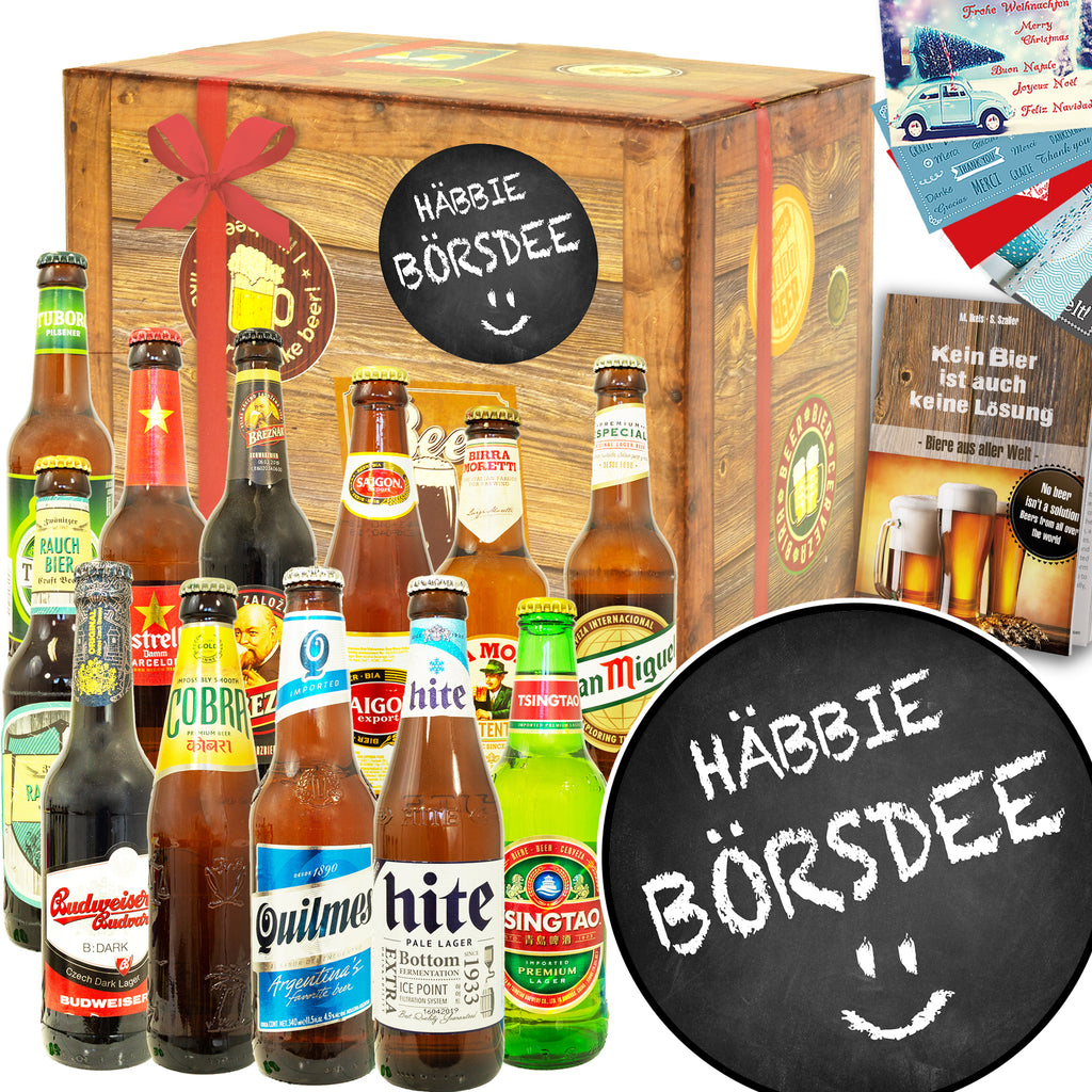 Häbbie Börsdee | 12 Flaschen Bier International | Biertasting