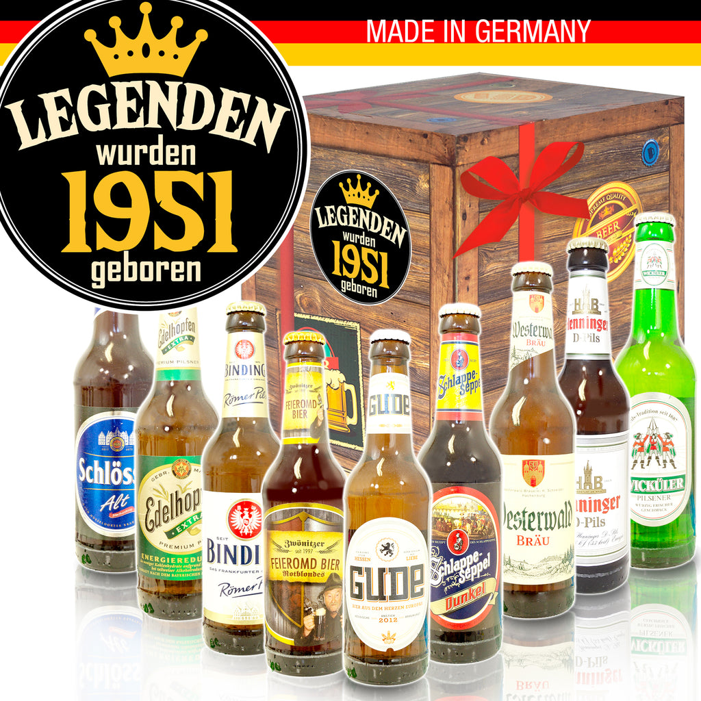 Legenden 1951 | 9x Deutsche Biere | Box