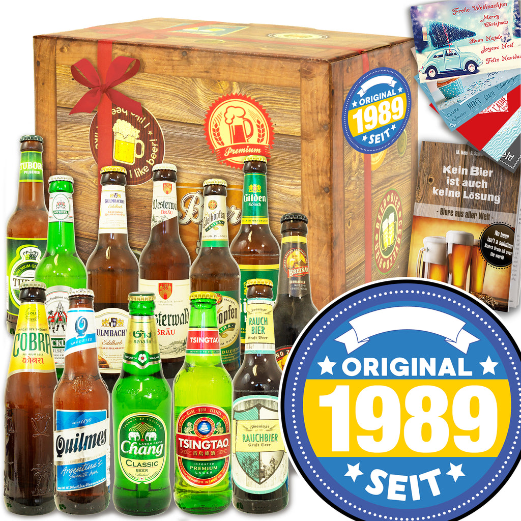 Original seit 1989 | 12x Bier International und DE | Bierverkostung