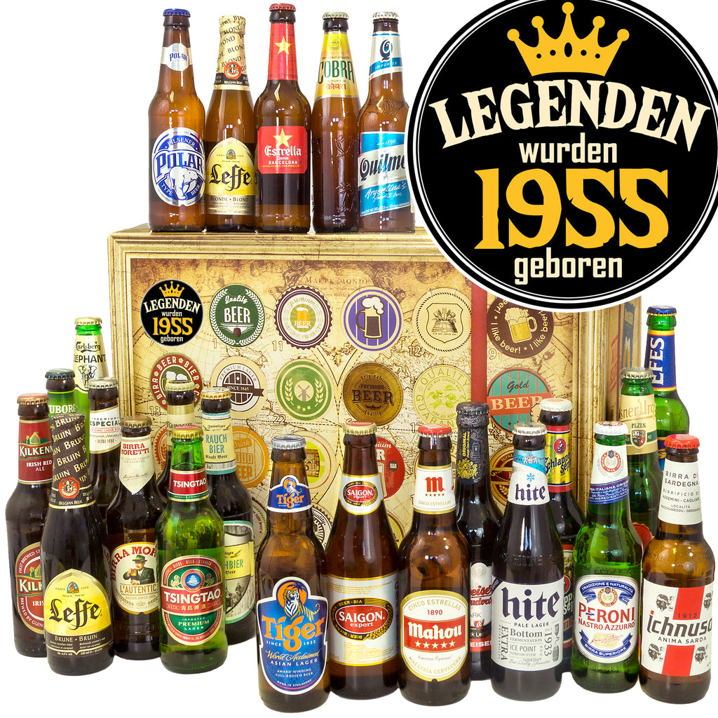 Legenden 1955 | 24 Biersorten Bier International | Bierpaket
