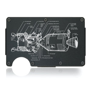 Apollo Spacecraft Diagram Wallet - CarbonKlip