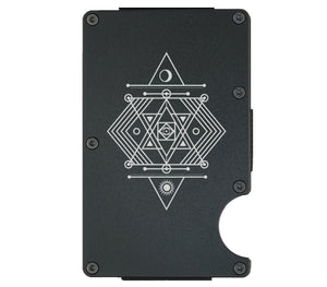 Sacred Geometry Sun and Moon Wallet - CarbonKlip
