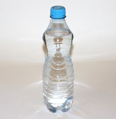 water bottle with blue cap