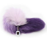 "14"" TAIL PURPLE STAINLESS STEEL PLUG"