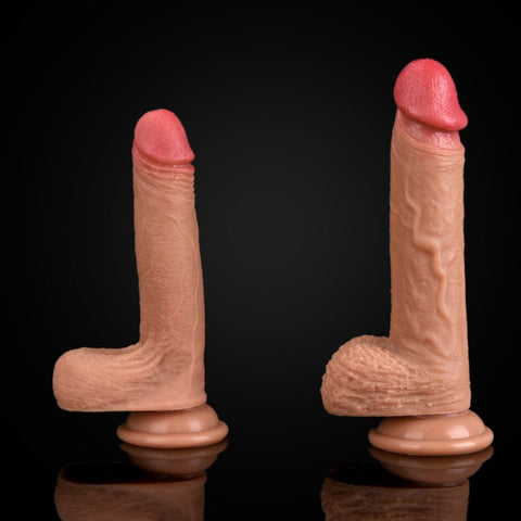 SOFT SILICONE DILDO WITH SUCTION CUP 2 SIZES