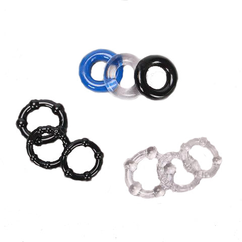 Silicone Cock Rings Set 3 Colours