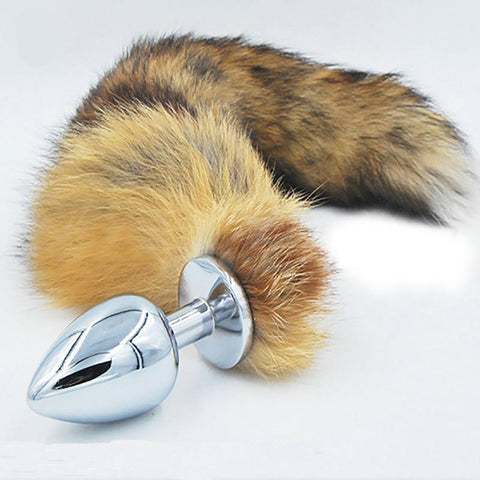 "14"" BROWN CAT TAIL 3 SIZES STAINLESS STEEL PLUG  michalmenert"
