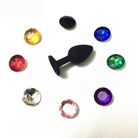 3 SIZES 8 COLORS JEWELED SILICONE PRINCESS PLUG  michalmenert