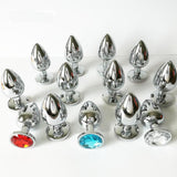 3 SIZES 13 COLORS JEWELED METAL PLUG  ever-us