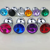 "3"" JEWELED METAL PRINCESS PLUG - 12 COLORS AVAILABLE  pluglust"