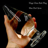 SUPER LARGE TRANSPARENT GLASS PLUG  pluglust