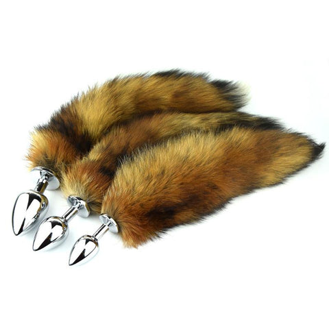 "13"" TAIL BROWN FOX 3 STAINLESS STEEL PLUG SIZES AVAILABLE  chefjeffcooked"