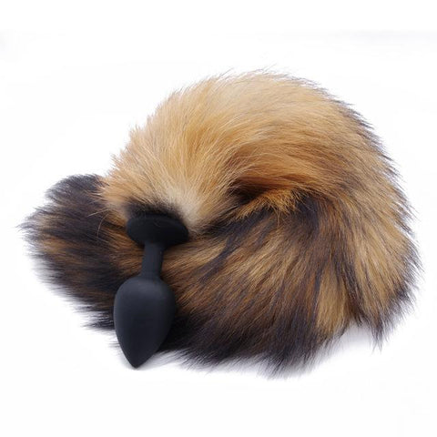 BROWN FOX TAIL TPE PLUG Black 419Positive