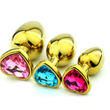 "12 COLORS 3"" HEART-SHAPED JEWELRY PRINCESS PLUG  pluglust"