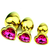 "12 COLORS 3"" HEART-SHAPED JEWELRY PRINCESS PLUG  419Positive"