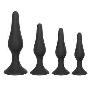 4 SIZES AVAILABLE BLACK SILICONE PLUG  pluglust